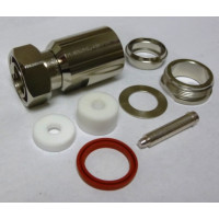PE44277 7/16 DIN Male Clamp Connector, RG218, Cable Group:218.  PE