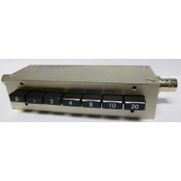 PE7008-2  Step Attenuator, 45.5 dB With 0.5 dB Step,  BNC Female To BNC Female, 1 Watt Up To 750 MHz, Pasternack (Clean Used)
