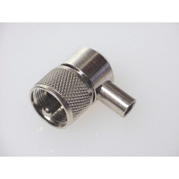 PL259RA UHF Male Solder Connector, Right Angle (PL259) Cable Group: X