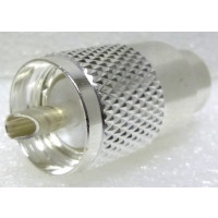 PL259A UHF Male Solder Type Connector, Silver/PTFE LMR400/9913