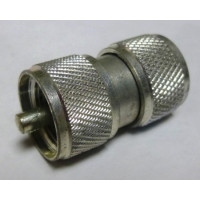 PL259X2 IN Series Adapter, UHF Male to Male (PL259) Barrel, Rated 300 watts max.