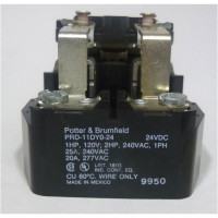 PRD11DYO-24; Relay, dpdt, P&B