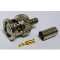 R141-082-161  BNC Male Crimp Connector, Cable Group C, Radiall