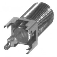 RFF1450-03  Type-F, FEMALE VERTICAL PCB MOUNT W/ SOLDER TAB, RFI