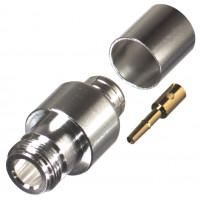 0-RFN1028-2L2 Type-N Female Crimp Connector, Cable Group L2, RFI