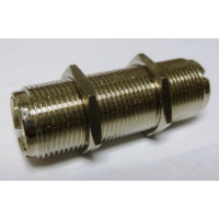 """RFP518-2 IN Series Adapter,UHF Female to Female(SO239) Barrell, 1.75"""" long"""