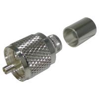 RFU507-SI UHF Male Crimp Connector, (PL259), Cable Group I, RFI