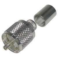 RFU507-ST UHF Male Crimp Connector, (PL259), Cable Group E, RFI