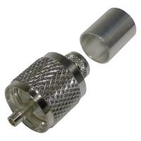 0-RFU507-STF  UHF Male Crimp Connector, (PL259), Cable Group F, RFI