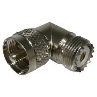 RFU532 IN Series Adapter, UHF Male to Female, Right Angle, RFI