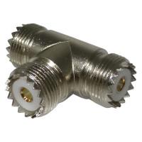 RFU534  IN Series TEE Adapter, UHF Triple Female(SO239), RF Industries
