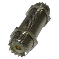 RFU537 IN Series Adapter, UHF Female to Female Threaded Barrel, 2 Inch, RFI