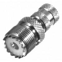 RFU621 Between Series Adapter, Mini-UHF Male to UHF Female (SO239), RFI
