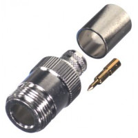 RP1028-I  Type N Reverse Polarity Female Crimp Connector, Cable Group I, RF Industries