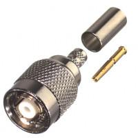 RP1202-X  TNC Reverse Polarity Male Crimp Connector, Cable Group X, RFI