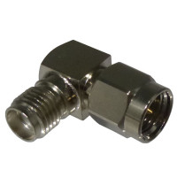 RSA3402 In Series Adapter, SMA Male to SMA Female, Right Angle, RF Industries