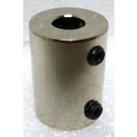"SC9  Shaft Coupler, Nickel Plated, 1/4"" shaft"