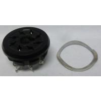SK8P  8 Pin Octal Socket, Plastic w/Chassis Ring, Amphenol