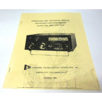 SMA76  Operating and Technical Manual for Alpha Model 76A, 76PA, and 76CA