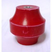 "2015-2C Standoff Insulator, Red, 2"" x 2"", Glastic"