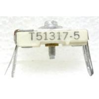 T51317-5 Trimmer, compression mica, 10-100 pF