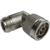 UG27A/U IN Series Adapter, Right Angle, Type N Male to Female Right Angle, Amphenol