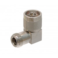 UG27D/U  IN Series Adapter, Right Angle, Type N Male to Female, Square Body, Kings (NOS)
