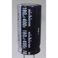 UVZ2G181MRH3 Electrolytic Capacitor, 180uf 400v, Radial Lead, Nichicon