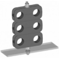 """WSDCB12  Mini Cable Block for 1/2"""" Cable. Supports 2 cable runs.  Wireless Solutions"""