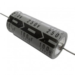 100-250A Electrolytic Capacitor, Axial Lead, 100uf 250v, NIC