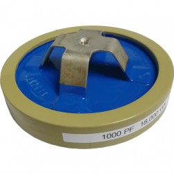 1000-18 Capacitor, Doorknob 1000pf 18kv (Clean Used)