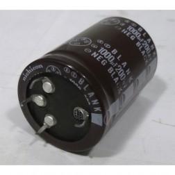 1000-200 Snap Lock Capacitor, 1000uf 200v, Nichicon