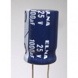 1000-25R  Radial Lead Capacitor, 1000UF- 25V  Elna