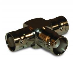112455 In-Series Adapter, BNC Triple Female Tee, Amphenol