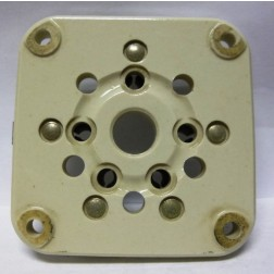 122-275-200-P  5 Pin Tube Socket, Heavy duty Military grade; steatite insulated wafer type, Silver pins, Johnson (Clean Pullout)