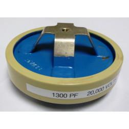 1300-20  Doorknob Capacitor, 1300pf 20kv, Vishay/Draloric (Clean used)