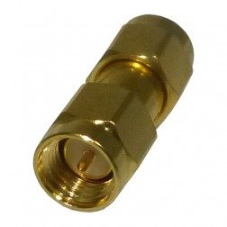 132168  IN Series Adapter, SMA Male to Male, Barrel, Amphenol