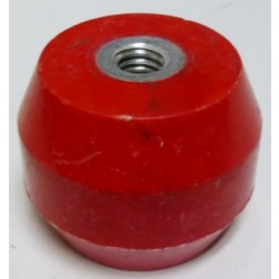 "1603-RED Standoff Insulator, 1.385"" L x 1.75"" Dia., Red, Glastic"