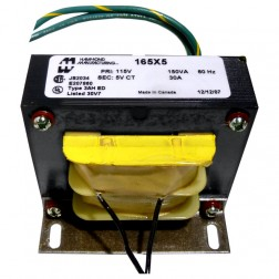 165X5  5.0 vct 30 amps primary 115v, Hammond