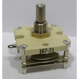 167-21-1 Variable Capacitor, Panel Mount, 2.3-10 pf, E.F. Johnson