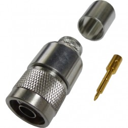 172206 Type-N Male Crimp Connector, Cable Group L2, Straight, Amphenol