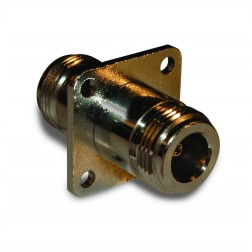 172278  IN Series Adapter, Type-N Female to Female, 4 Hole Panel Mount, Amphenol