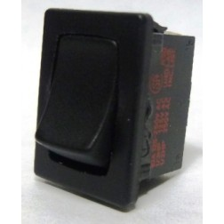 1801-P  Rocker Switch, SPST, 6a 250vac (Plain-no lettering), Kema Keur