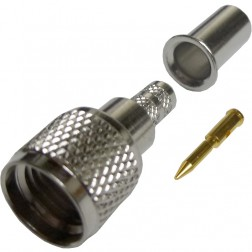 182123  Mini-UHF Male Crimp Connector, Cable Group C1, Amphenol