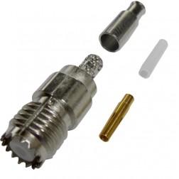 182117 Mini-UHF Female Crimp Connector, Cable Group B,  Amphenol