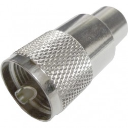 182120  UHF Male (use #PL-259-AMP) Solder Type Connector, Straight, Knurled Nut, Amphenol