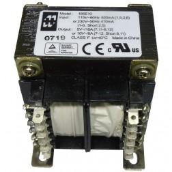 185E10 Transformer, 80va 10vac ct @8.0a /5v@16a, Hammond