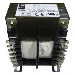 185G10 Transformer  175va 10vct at 17.5a Or 5v at 35a; 115 or 230 vac, Hammond