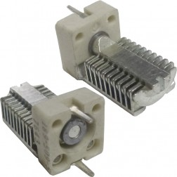 189-509-5  Vertical PC Mount Capacitor, Variable, 2.4-24.5pf,  Johnson