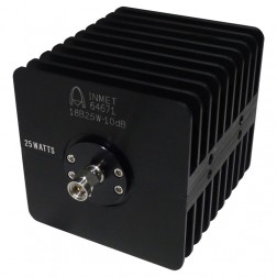 18B25W-10 Attenuator, 25 Watt 10 dB, SMA Male/SMA Female, API/Inmet